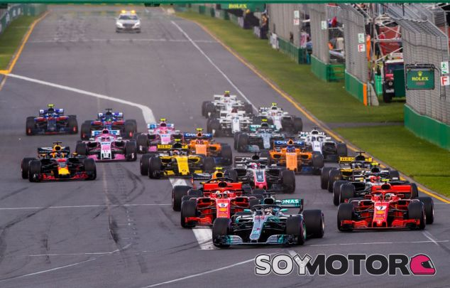 Salida del GP de Australia 2018 - SoyMotor.com