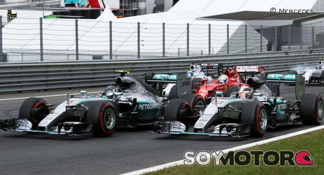 Salida del Gran Premio de Austria de 2015 - LaF1