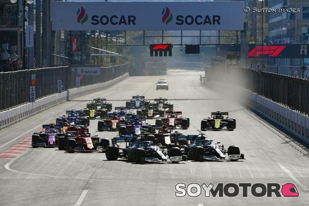 Salida del GP de Azerbaiyán F1 2019 - SoyMotor