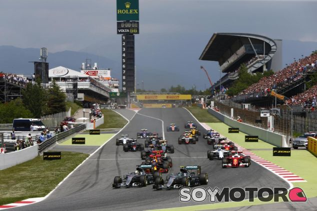 Salida del Gran Premio de España de esta temporada - SoyMotor