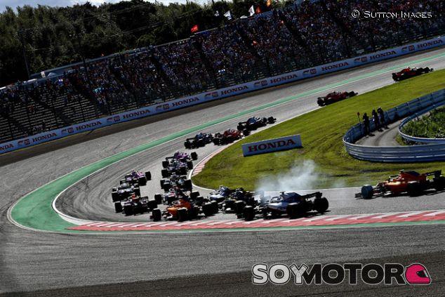 Salida de la carrera del GP de Japón 2018 - SoyMotor.com