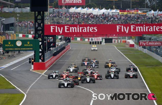 Salida del GP de Japón del año pasado - SoyMotor