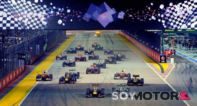 Salida del GP de Singapur F1 2013 - LaF1