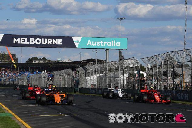 Simulacro de salida en el GP de Australia de 2018 – SoyMotor.com