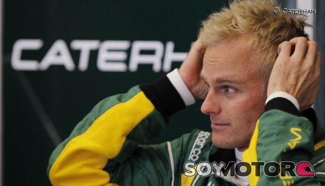 Heikki Kovalainen durante los F1 Test Days de Jerez en 2012