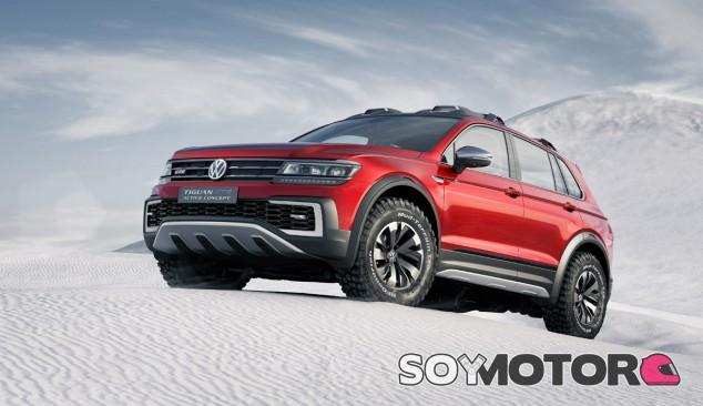 Protecciones, barras en el techo... imagen campera para el Volkswagen Tiguan Active Concept - SoyMotor