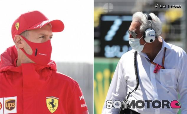 El curioso saludo entre Vettel y Lawrence Stroll en Silverstone - SoyMotor.com