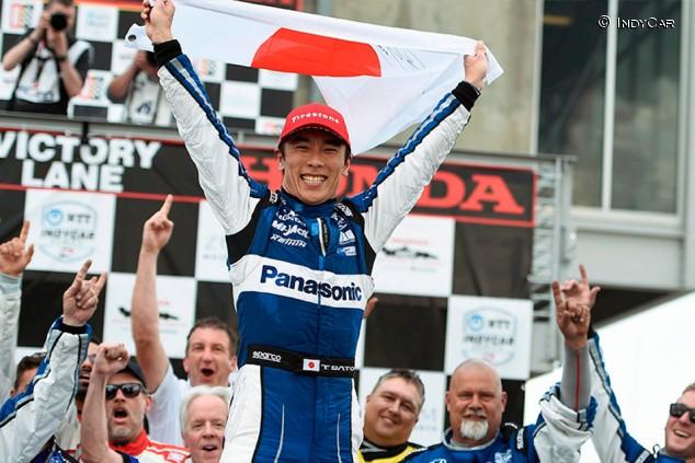 Sato se salva de su susto final y gana la IndyCar en Alabama