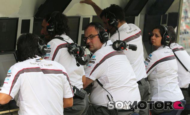 Pit Wall de Sauber en la India - LaF1