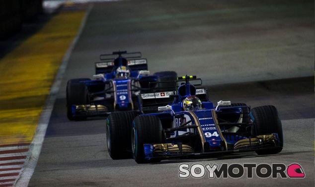 Pascal Wehrlein y Marcus Ericsson en Singapur - SoyMotor
