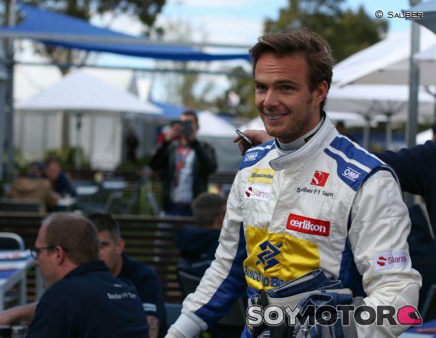 Giedo Van der Garde con el mono de Sauber en Australia- LaF1.es