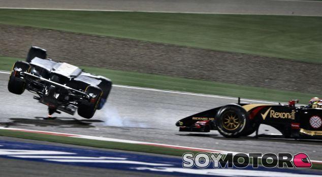 Accidente entre Pastor Maldonado y Esteban Gutiérrez - LaF1