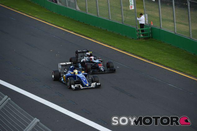 Nasr y Button durante el GP de Australia 2016 - SoyMotor