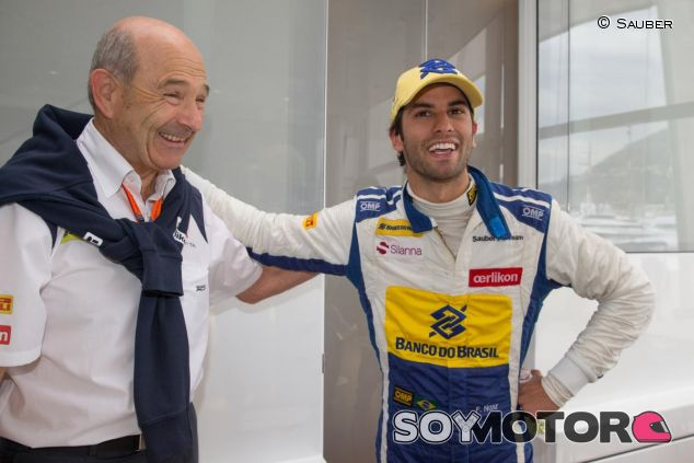 Peter Sauber con Felipe Nasr, una unión que seguramente seguirá en 2016 - LaF1