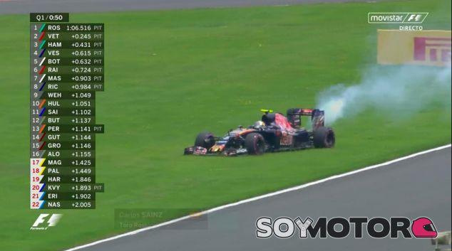 Carlos Sainz en el momento de su avería - LaF1
