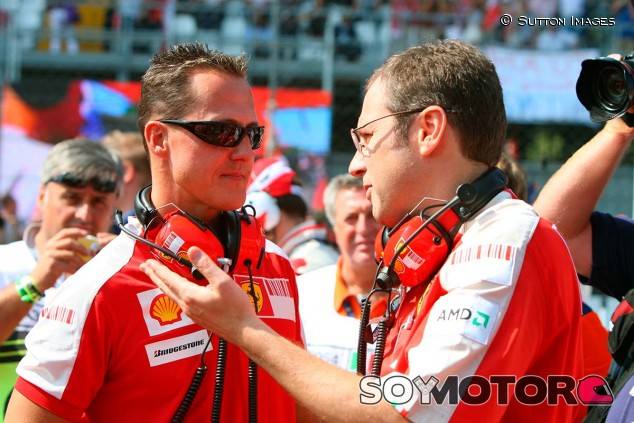 Michael Schumacher y Stefano Domenicali - SoyMotor