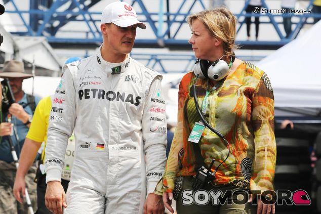 Michael Schumacher y Sabine Kehm en 2012 - LaF1
