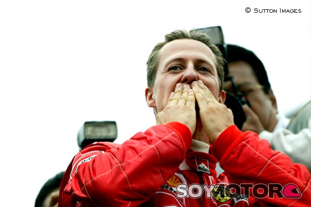 Michael Schumacher en Spa en 2002 - SoyMotor.com