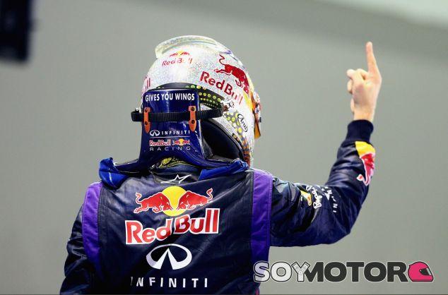 Sebastian Vettel tras su victoria en Singapur - LaF1