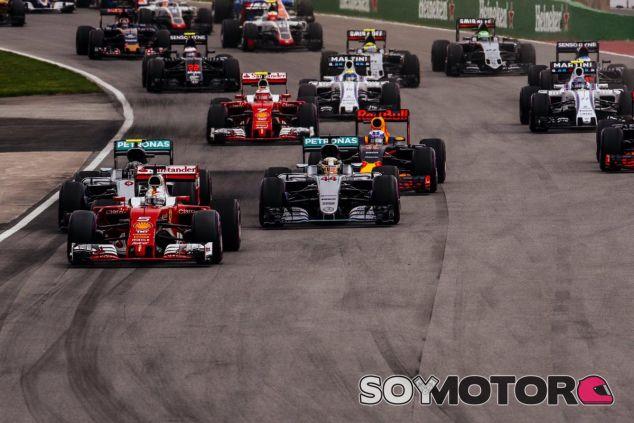 Vettel volvió a sorprender a Mercedes en la salida del GP de Canadá - LaF1