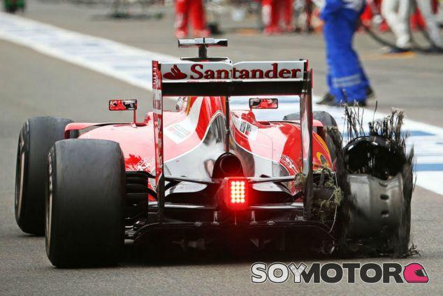 El reventón de Vettel ha creado mucha polémica - LaF1