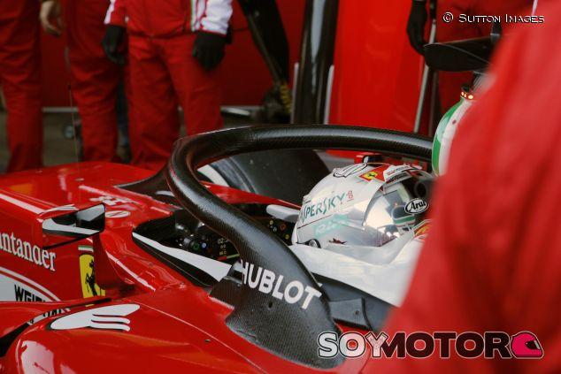 Sebastian Vettel con el halo - LaF1