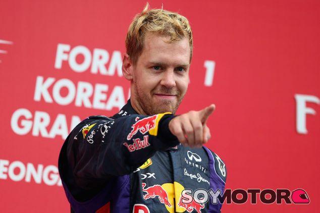 Sebastian Vettel festeja su victoria en Corea - LaF1