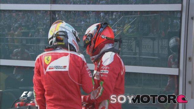 Vettel se disculpa con Räikkönen tras el incidente en la salida - LaF1