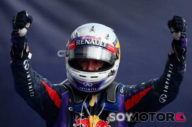 Sebastian Vettel celebra su victoria en el Gran Premio de Italia - LaF1
