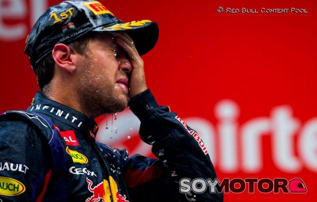 Sebastian Vettel tras ganar su cuarto título de F1 - LaF1