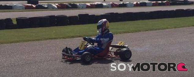 Primer test del kart restaurado de Ayrton Senna - LaF1