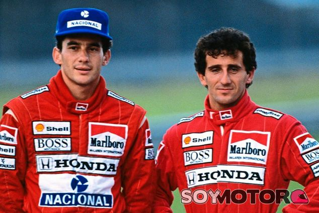 Ayrton Senna y Alain Prost - LaF1