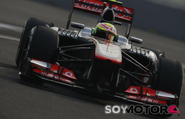 Sergio Pérez sufrió con los Pirelli en la India - LaF1