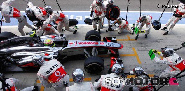 Pit stop de Sergio Pérez en Silverstone