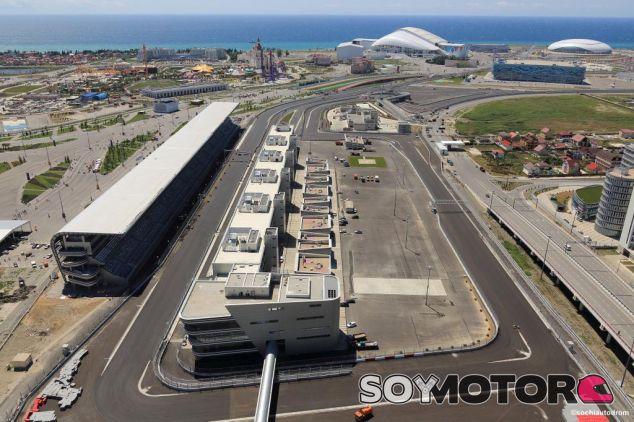 Vista del paddock de Sochi - LaF1