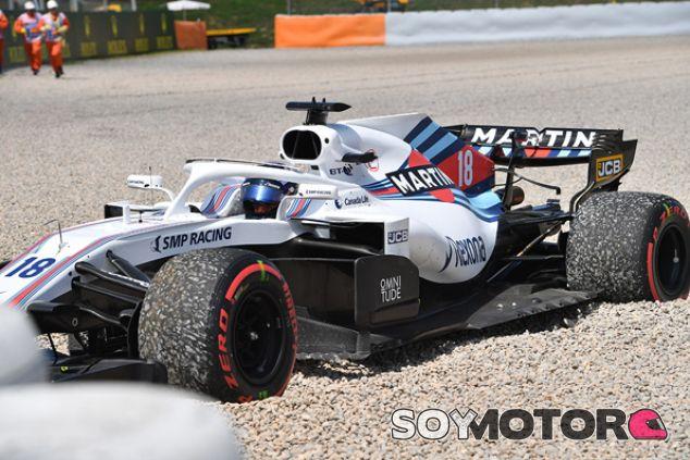 Accidente de Lance Stroll en Barcelona - SoyMotor.com