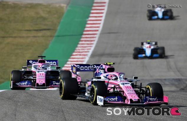 Stroll y Pérez en el GP de Estados Unidos 2019 - SoyMotor.com