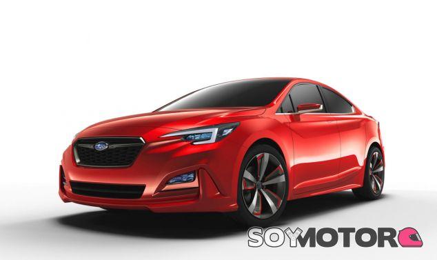Este concept adelanta una línea más picante del futuro Subaru Impreza Sedán - SoyMotor