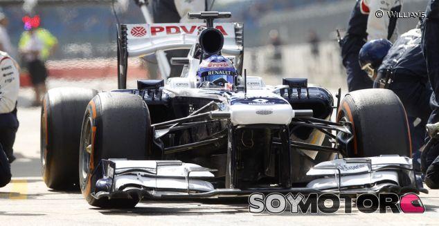 Susie Wollf durante los test de jóvenes pilotos de Silverstone