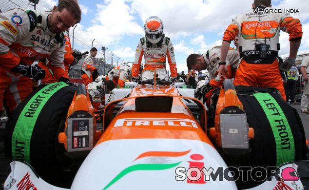 Adrian Sutil en el Force India VJM06