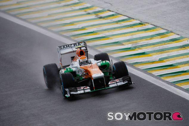 Adrian Sutil en su último Gran Premio con Force India, el de Brasil - LaF1
