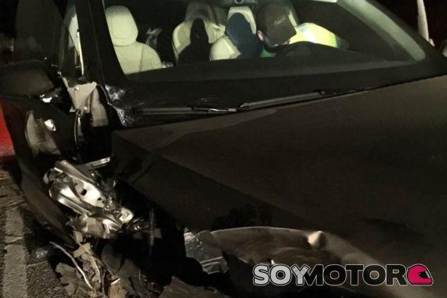 Foto de los daños sufridos por el Tesla Model X tras el accidente - SoyMotor