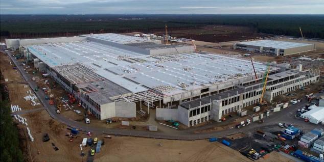 Gigafactoría de Berlín; imagen del último informe económico de Tesla - SoyMotor.com