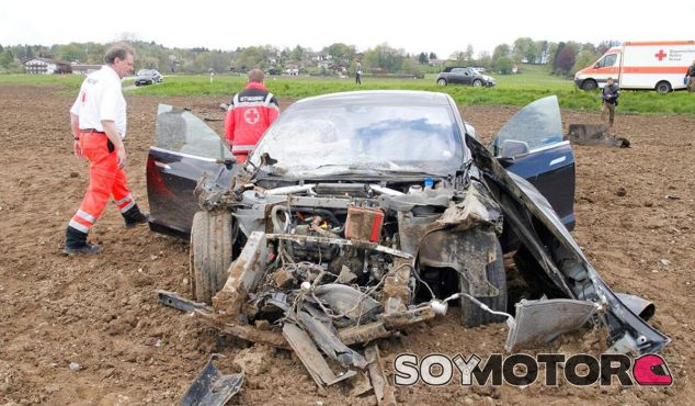 La foto del accidente ha sido publicada en el diario local Merkur.de - SoyMotor