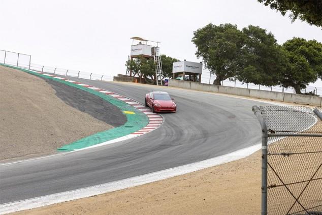 El posible Model S Plaid+ en Laguna Seca, @klwtts