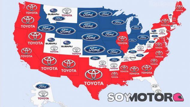 Mapa detallado de Estados Unidos - SoyMotor