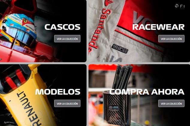 La F1 lanza una tienda on-line para coleccionistas de memorabilia - SoyMotor.com