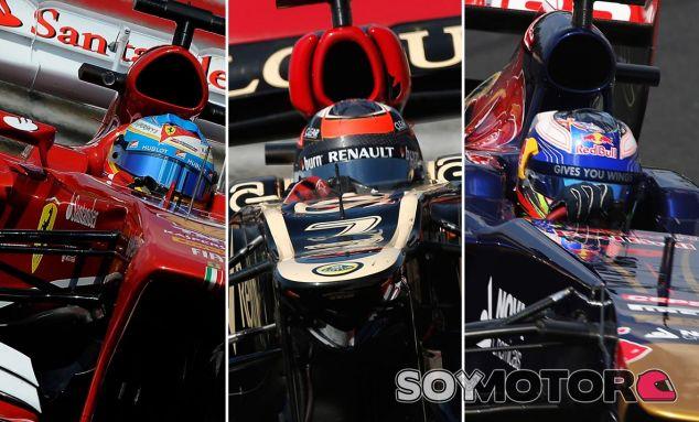Fernando Alonso, Kimi Räikkönen y Daniel Ricciardo