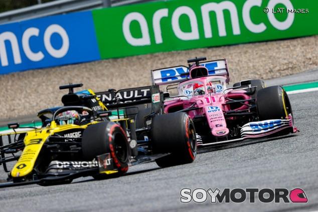 Daniel Ricciardo y Sergio Pérez en Austria - SoyMotor.com