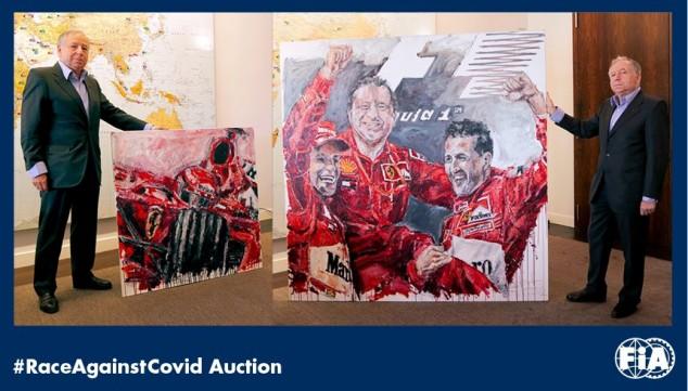 Todt dona dos pinturas para la subasta contra el coronavirus - SoyMotor.com